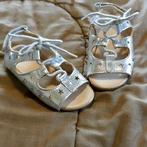 Gymboree silver star sandals